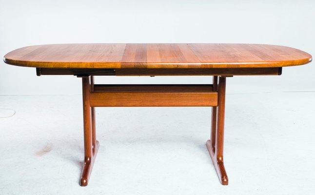 Vintage Teak Oval Dining Table From Glostrup 1