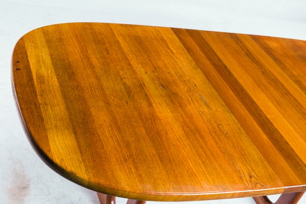 Table de Salle à Manger Ovale Vintage en Teck de Glostrup