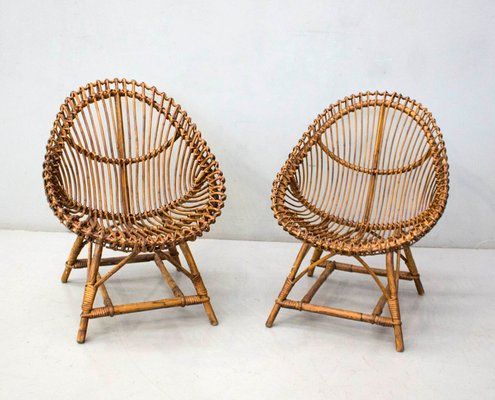 Rattan Chairs From Vittorio Bonacina 1960s Set Of 2 For Sale At Pamono