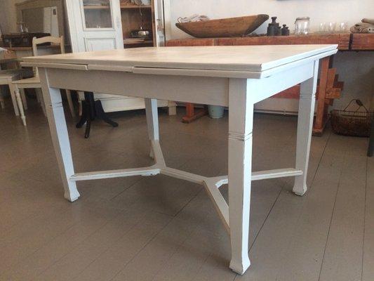 Ausziehbarer Antiker Tisch In Weiß Bei Pamono Kaufen