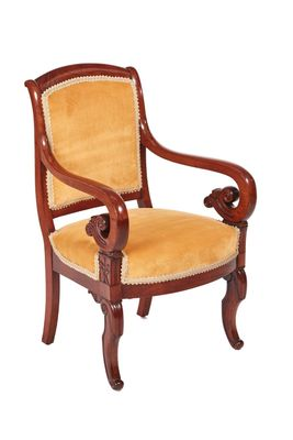 Charmant Antique Regency Mahogany Library Chair