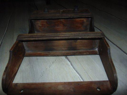 Vintage Wooden Spice Rack 1940s