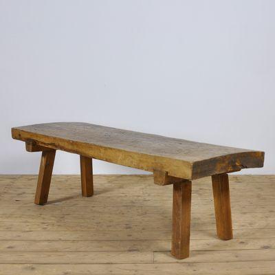 Vintage Oak Butcher S Block Coffee Table Bench