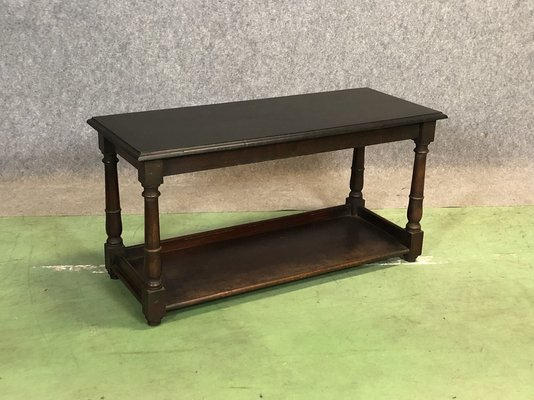 Low Black Painted Mahogany Side Table 1