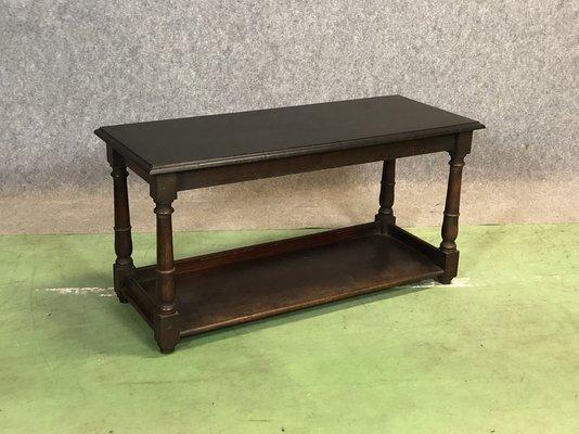 Table Basse d\'Appoint en Acajou Peinte en Noir