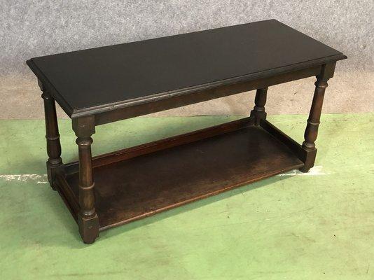 Table Basse D Appoint En Acajou Peinte En Noir En Vente Sur Pamono