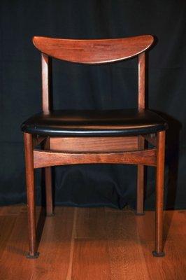 Swell Danish Teak Black Vinyl Desk Chair 1960S Ocoug Best Dining Table And Chair Ideas Images Ocougorg