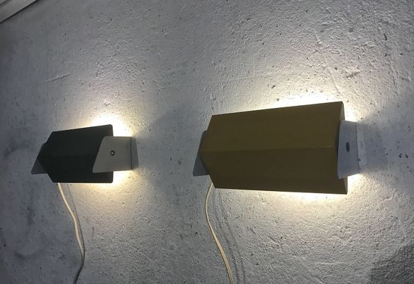 Vintage Wall Lamps from Anvia, 1960s, Set of 2