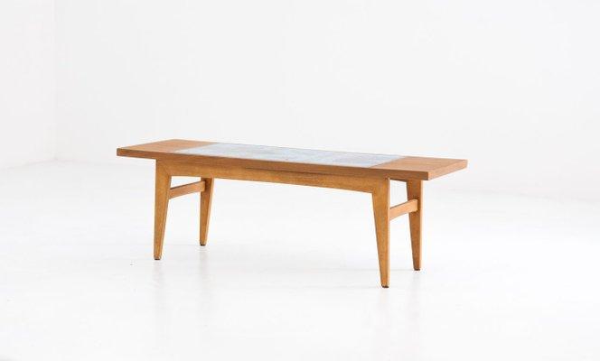 Tavolino Basso In Legno.Tavolino Basso Mid Century In Legno E Ceramica Anni 50 In