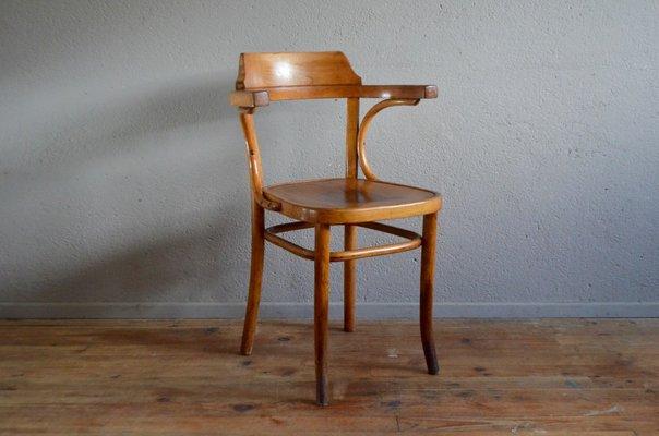 Fauteuil de bureau vintage en bois courbé en vente sur pamono
