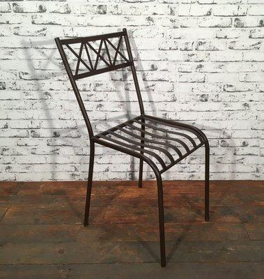 Vintage Stuhl Aus Eisen 1930er Bei Pamono Kaufen
