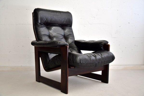 Prime Leather Mahogany Highback Lounge Chair From Coja 1980S Uwap Interior Chair Design Uwaporg