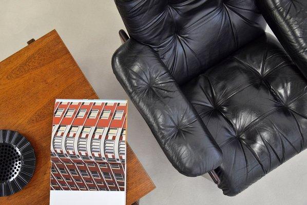 Terrific Leather Mahogany Highback Lounge Chair From Coja 1980S Uwap Interior Chair Design Uwaporg