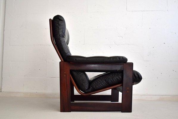 Astounding Leather Mahogany Highback Lounge Chair From Coja 1980S Uwap Interior Chair Design Uwaporg