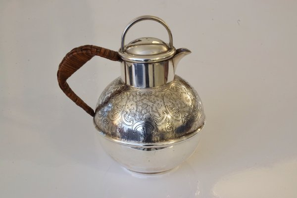 Antique English Silver Pitcher Or