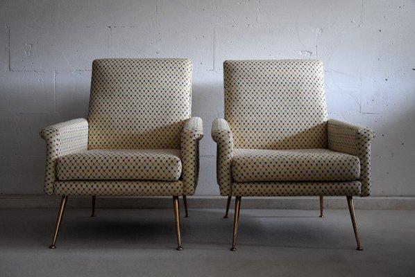 396b65ad82560 Paar moderne italienische Mid-Century Sessel