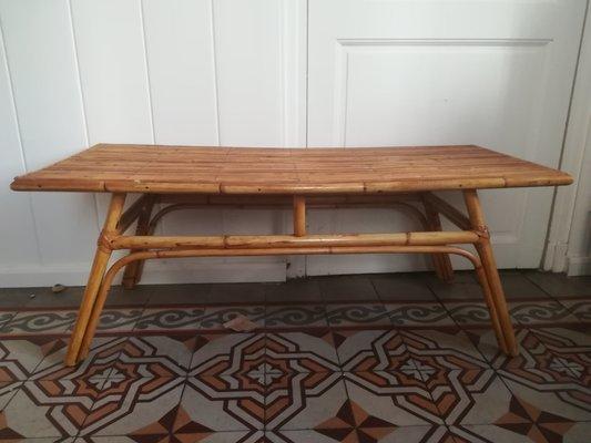 Vintage Rattan Coffee Table, 1960s