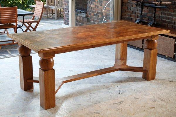 Tavolo da pranzo in legno naturale di Baptistin Spade, anni \'50 in ...