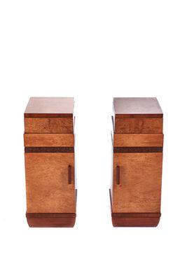 Birdseye Maple Bedside Cabinets 1920s Set Of 2 1