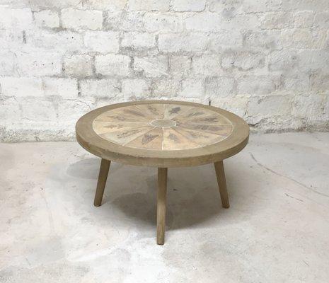 Table Basse Mid-Century par Jean Touret pour Atelier Marolles, France