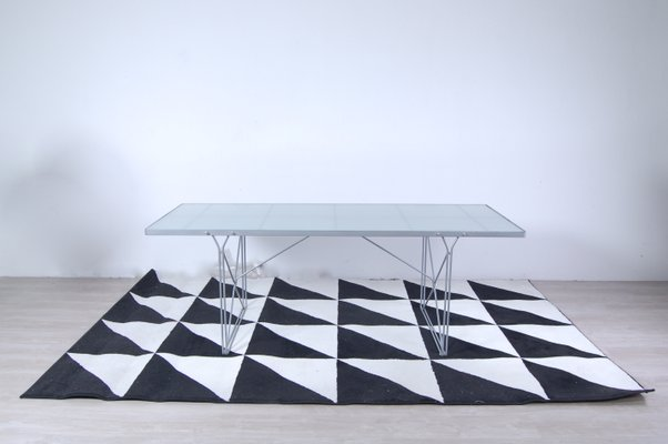 Moment Steel And Gl Table By Niels Gammelgaard For Ikea 1987