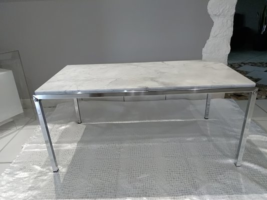 Pleasant Vintage Carrara Marble Coffee Table Ncnpc Chair Design For Home Ncnpcorg