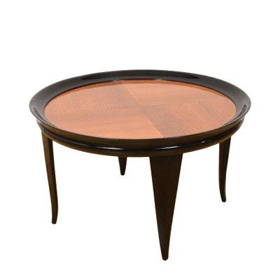 Table Basse Art Deco En Bois Noirci Par Gio Ponti Italie 1940s