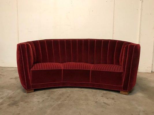 Prime Danish Mid Century Burgundy Banana Sofa 1940S Unemploymentrelief Wooden Chair Designs For Living Room Unemploymentrelieforg