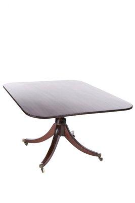 Mesa de comedor plegable antigua de caoba