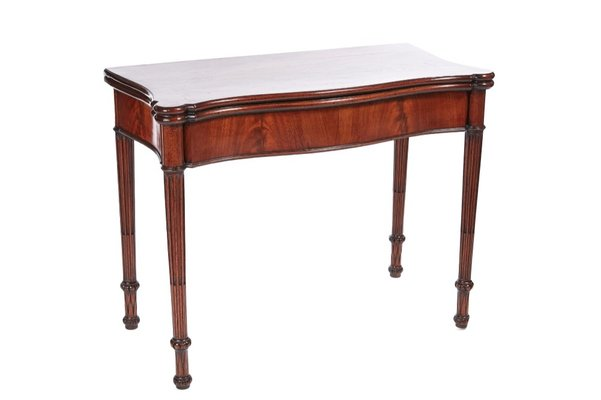 Antique Hepplewhite Mahogany Card Table For Sale At Pamono