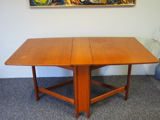 af0306e5b4ea Mid-Century Teak Drop Leaf Dining Table from McIntosh for sale at Pamono