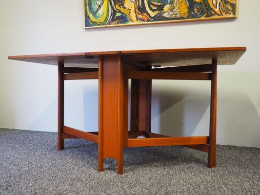 Mesa de comedor abatible Mid-Century de teca de McIntosh en venta en ...