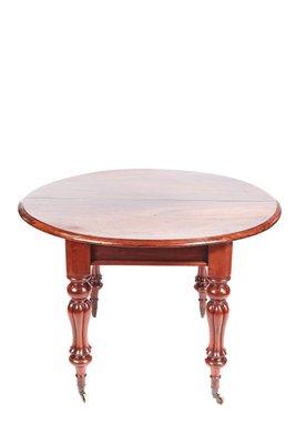 Extensible Table Antique Manger Iv Acajou À William De Salle En 0n8kwOP