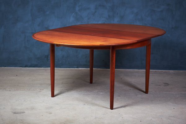 Vintage Danish Teak Dining Table With Erfly Leaves From Skovby