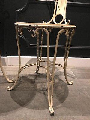 Sedie vintage in ferro, anni \'30, set di 2 in vendita su Pamono