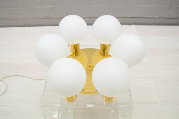Jours Globes Lampe Vintage Opaline En Abat Orbite Laiton Avec NvmOny0w8