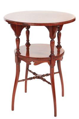 Tavolino Due Ripiani.Tavolino Di Servizio Antico In Palissandro Intarsiato A Due Ripiani