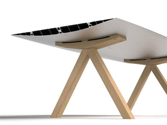 Table B With Aluminium Anodized Top Wood Legs By Konstantin Grcic For Bd Barcelona