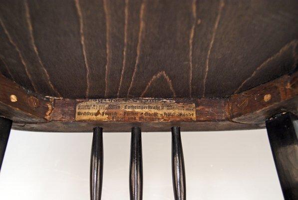 Sgabello per pianoforte nr. 616 art nouveau di jacob & josef kohn in