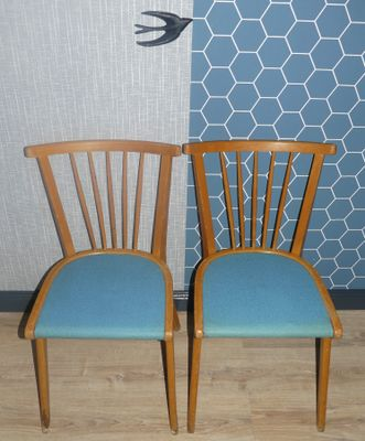 Light Blue Kitchen Chairs 1950s Set of 2 1 & Light Blue Kitchen Chairs 1950s Set of 2 for sale at Pamono