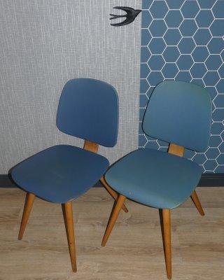 Antiques Flight Tracker Vintage Mid Century Modern Thonet Bentwood Tall Back Lounge Chair Turquoise Aqua Mid-century Modernism