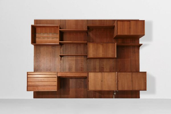 Mid Century Storage Wall Unit With Desk By Poul Cadovius 1