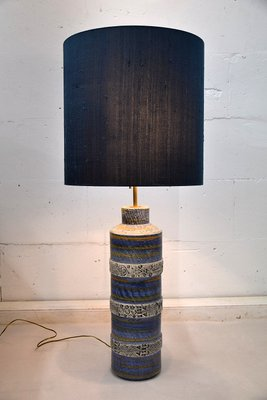 Mid Century Modern Ceramic Table Lamp By Aldo Londi For Bitossi 1960s