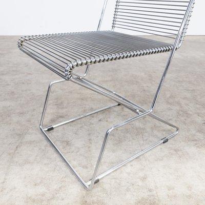 Vintage Stühle Mit Chromgestell Von Till Behrens Für Schlubach 4er