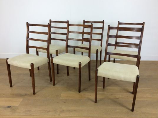 Mid Century Rosewood Dining Chairs 1960s Set Of 6