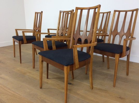 Etonnant Mid Century Brasilia Dining Chairs From Broyhill, 1962, Set Of 6