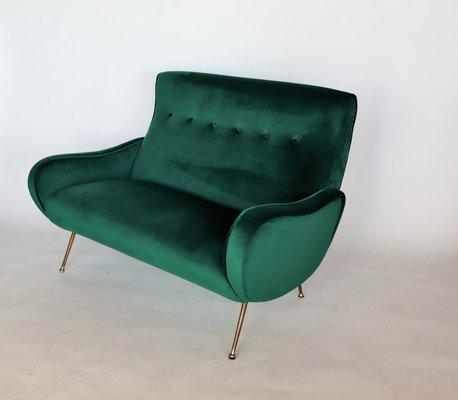 Sensational Mid Century Italian Green Velvet Sofa 1950S Machost Co Dining Chair Design Ideas Machostcouk