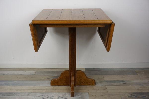 Folding Oak Dining Table 1960s 1
