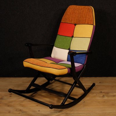 Italian Lacquered Wood Rocking Chair 1960s For Sale At Pamono