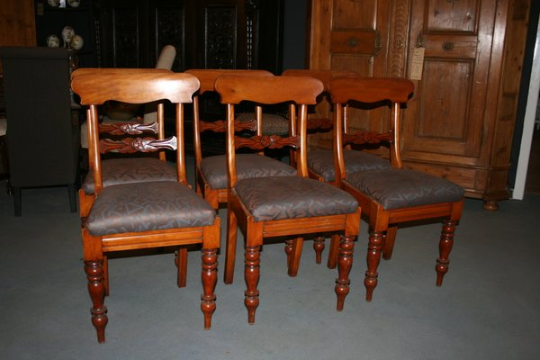 Antique Dining Chairs, Set of 6 1 - Antique Dining Chairs, Set Of 6 For Sale At Pamono